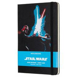 Блокнот Moleskine Limited Edition STAR WARS LESWC02QP060 Large 130х210мм 240стр. линейка черный Lightsaber duel