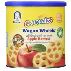 Снэк Gerber Graduates Wagon Wheels Apple Harvest от 8 месяцев