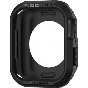 Чехол для Apple Watch 4 44mm (Spigen Rugged Armor 062CS24469) (черный)