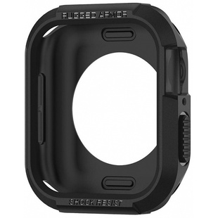 Чехол для Apple Watch series 4 40 mm (Spigen Rugged Armor 061CS24480) (черный)