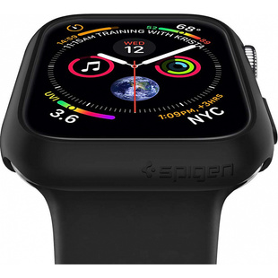 Чехол для Apple Watch Series 4 40 mm (Spigen Thin Fit 061CS24484) (черный)