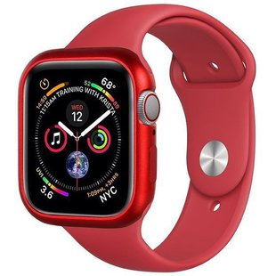 Чехол для Apple Watch series 4 44mm (COTEetCI Aluminium Magnet Case CS7058-RD) (красный)