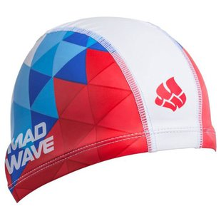 Шапочка для плавания MAD WAVE Tricolor